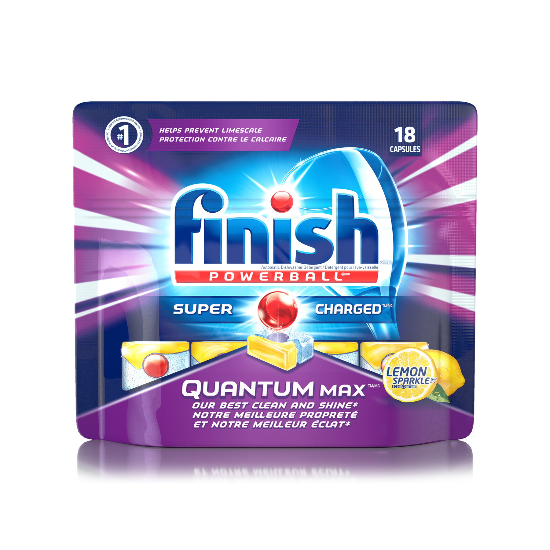 FINISH® Powerball® Quantum Max™ Super Charged® Capsules - Lemon Sparkle (Canada)